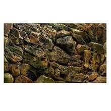 Auto adesivo 3d pedra de rocha pvc aquário fundo cartaz do tanque de peixes adesivos parede paisagem subaquática para decorações de aquário