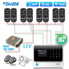 Towode G90B 3G GSM WIFI 100 Meters Wired Perimeter Infrared IR Dual Beam Barrier System Home Security Alarm System