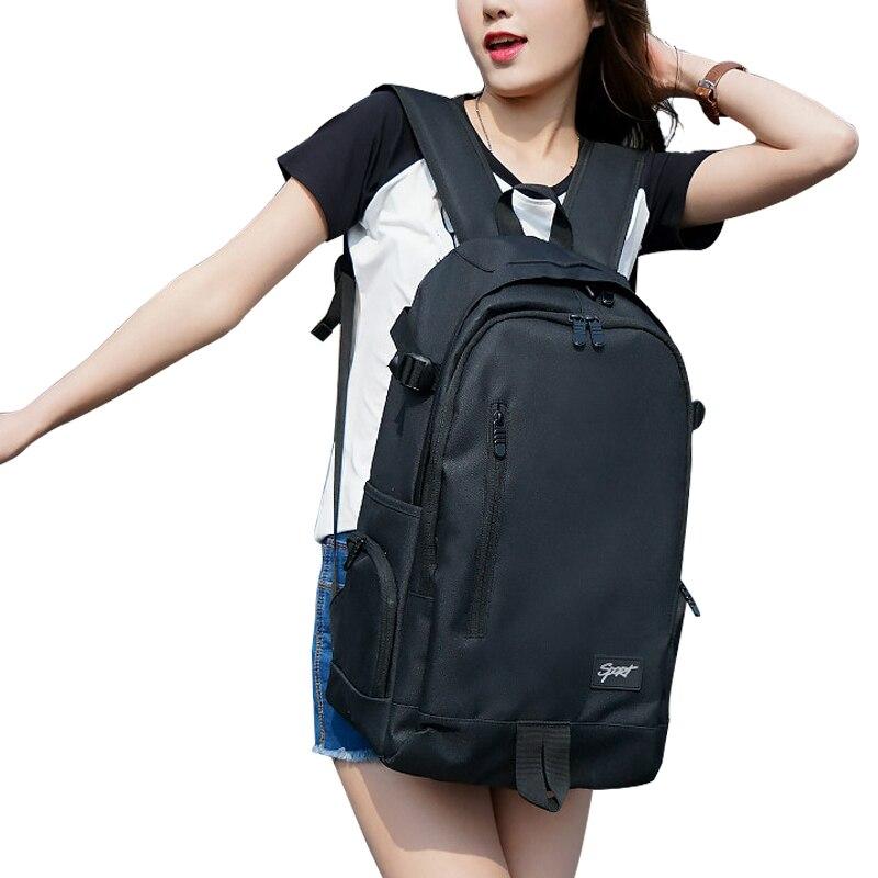 Student Leisure High Capacity Men And Women Sport Travel Backpack  Black Red Books Notebooks Bag Unisex Off-road Ride Backpacks
