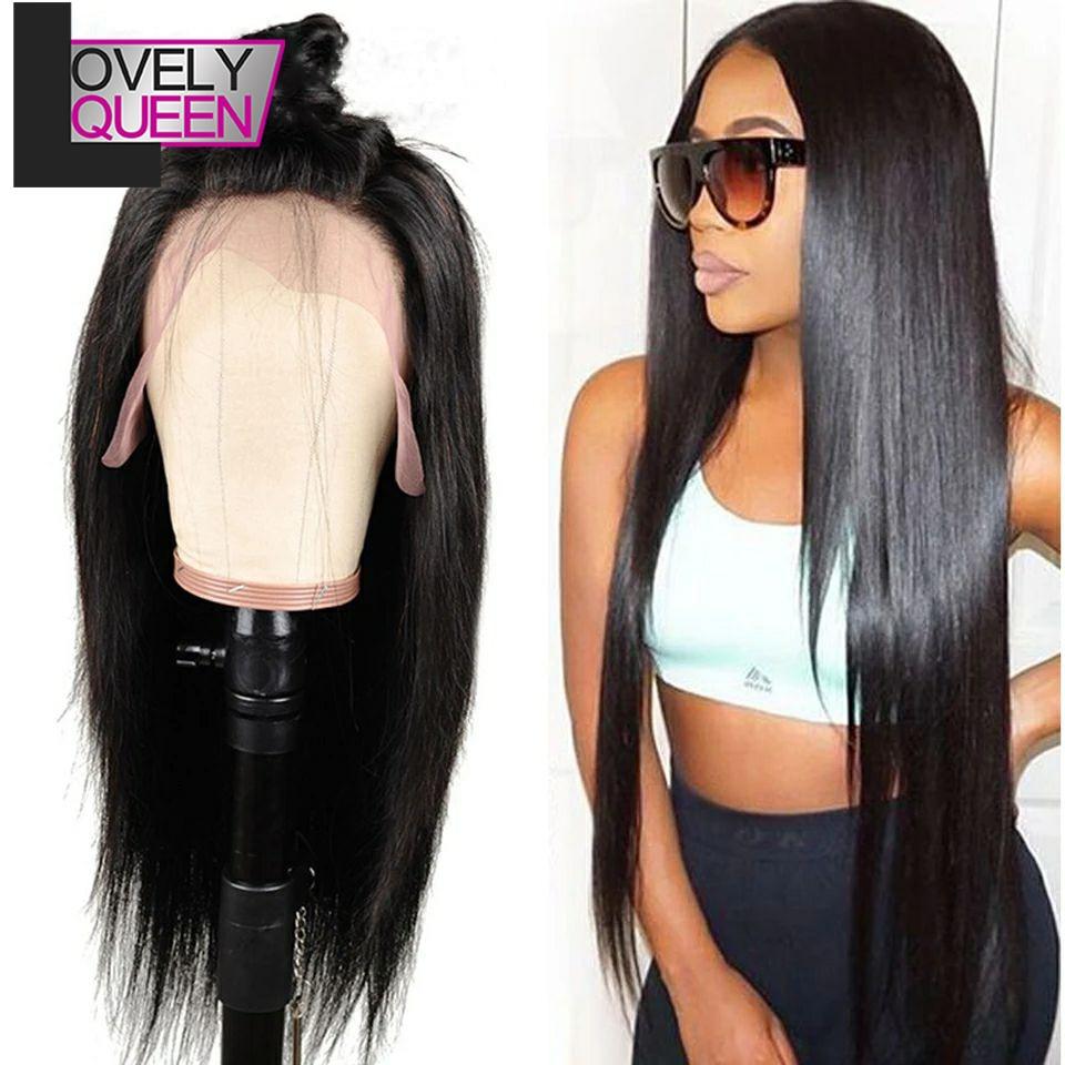 Brazilian Straight Hair Wigs Human 13x6 Lace Front Wig Preplucked Lace Wig Swiss Lace Frontal Wigs Black Women