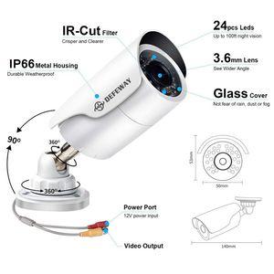 Image 5 - DEFEWAY 1080P Video Surveillance Camera 2.0MP HD 2000TVL Weatherproof Outdoor Indoor Home CCTV Security Camera IR Night Vision