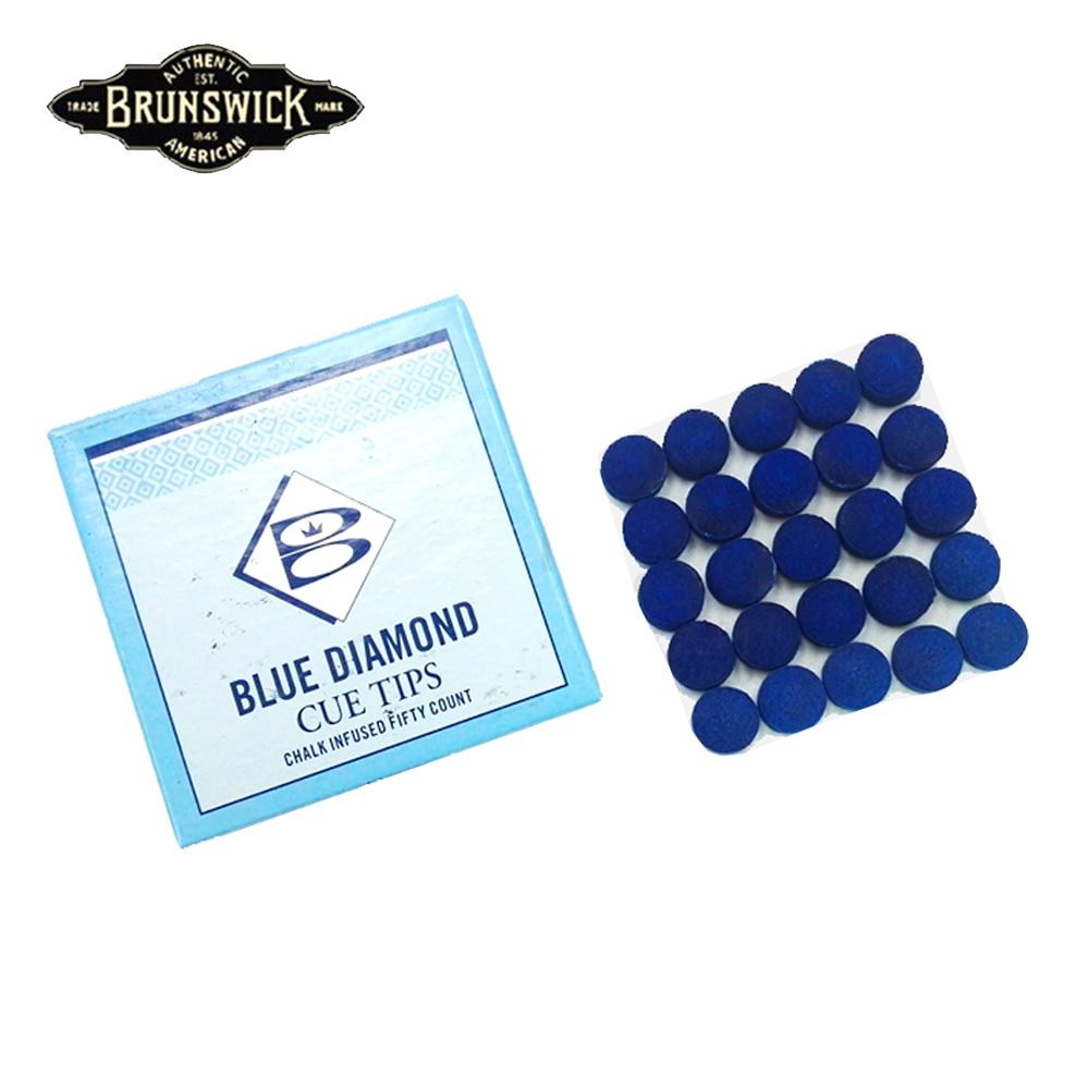 Original Blue Diamond Tip Brunswick Tips Snooker Cue Tip 11mm/10mm Billiard Accessories For Professional Snooker Players
