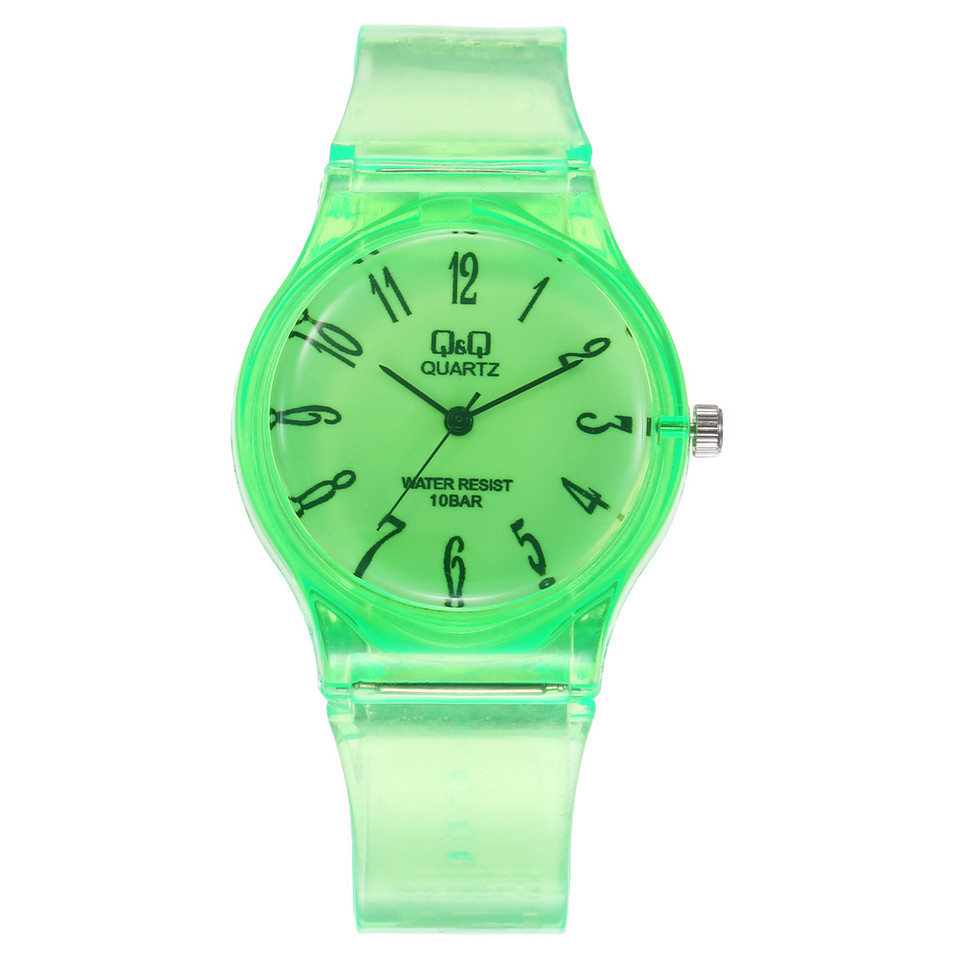 Transparent Qq Watch Student Harajuku Watch Pure Color Delicate