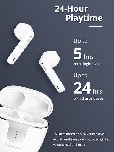 Tronsmart Onyx Ace TWS Bluetooth 5.0 Earphones Qualcomm aptX Wireless Earbuds Noise Cancellation with 4 Microphones,24H Playtime 3