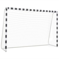 VidaXL Football Goal 300 X 200 X 90cm Metal And White Team Sports Soccer Goal Net