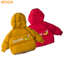 VFOCHI New Boy Girl Down Coats 6 Color Kids Winter Jacket Children Windproof Warm Snowsuit Unisex Thick Hoodie Outwear
