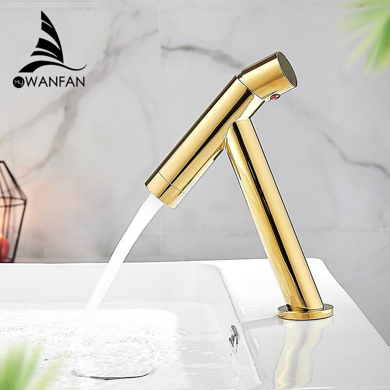 Basin Faucet Retro Gold Faucet Taps  Bathroom Sink Faucet Single Handle Hole Deck Vintage Wash Hot Cold Mixer Tap Crane 855775K