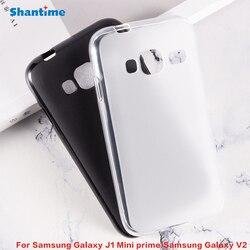 Para samsung galaxy j1 mini prime gel pudim silicone telefone protetor de volta escudo para samsung galaxy v2 macio tpu caso