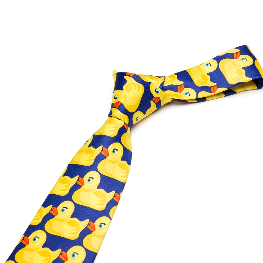 Men Fashion Yellow Rubber Duck Necktie 8CM Width Bowtie Classic Casual Ties Party For Mens Gift Tie