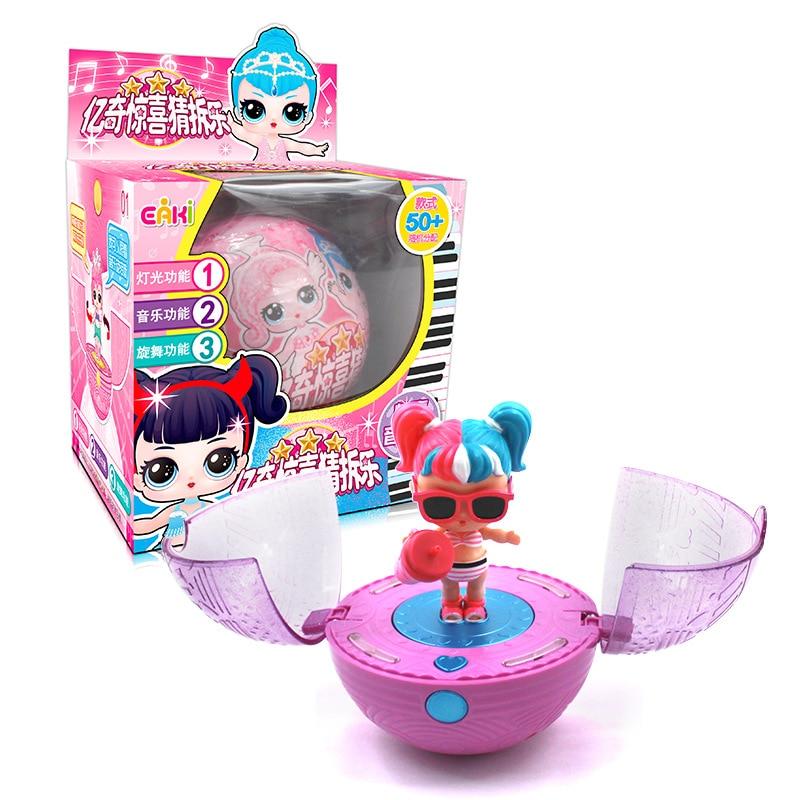 Newest Music LOL dolls bebek surprise Genuine EAKI original doll Toys for girls Christmas Gift present princess Rotate baby ball