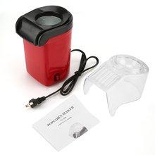 Electric Popcorn Maker Home Round/Square Hot Air Popcorn Making Machine Kitchen Desktop Mini DIY Corn Maker With EU /US Plug