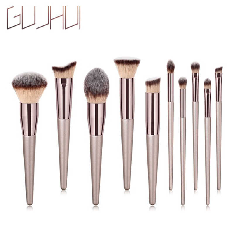 Nieuwe 10 Pcs Poeder Rose Goud Set Borstel Vorm Ovale Crystal Makeup Brush Set Professionele Foundation Poeder Borstel Kits Dfdf