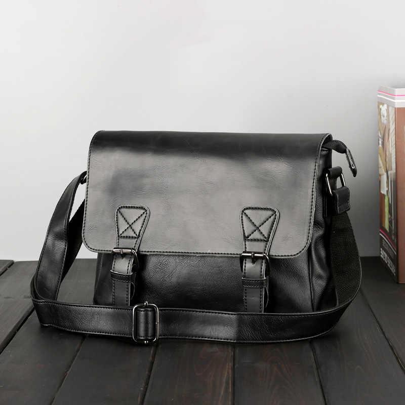 Japanse stijl Retro Schoudertas MANNEN Bag Schouder Retro Schoudertas guang jie bao Stijlvolle MANNEN Bag Vierkante Zak-