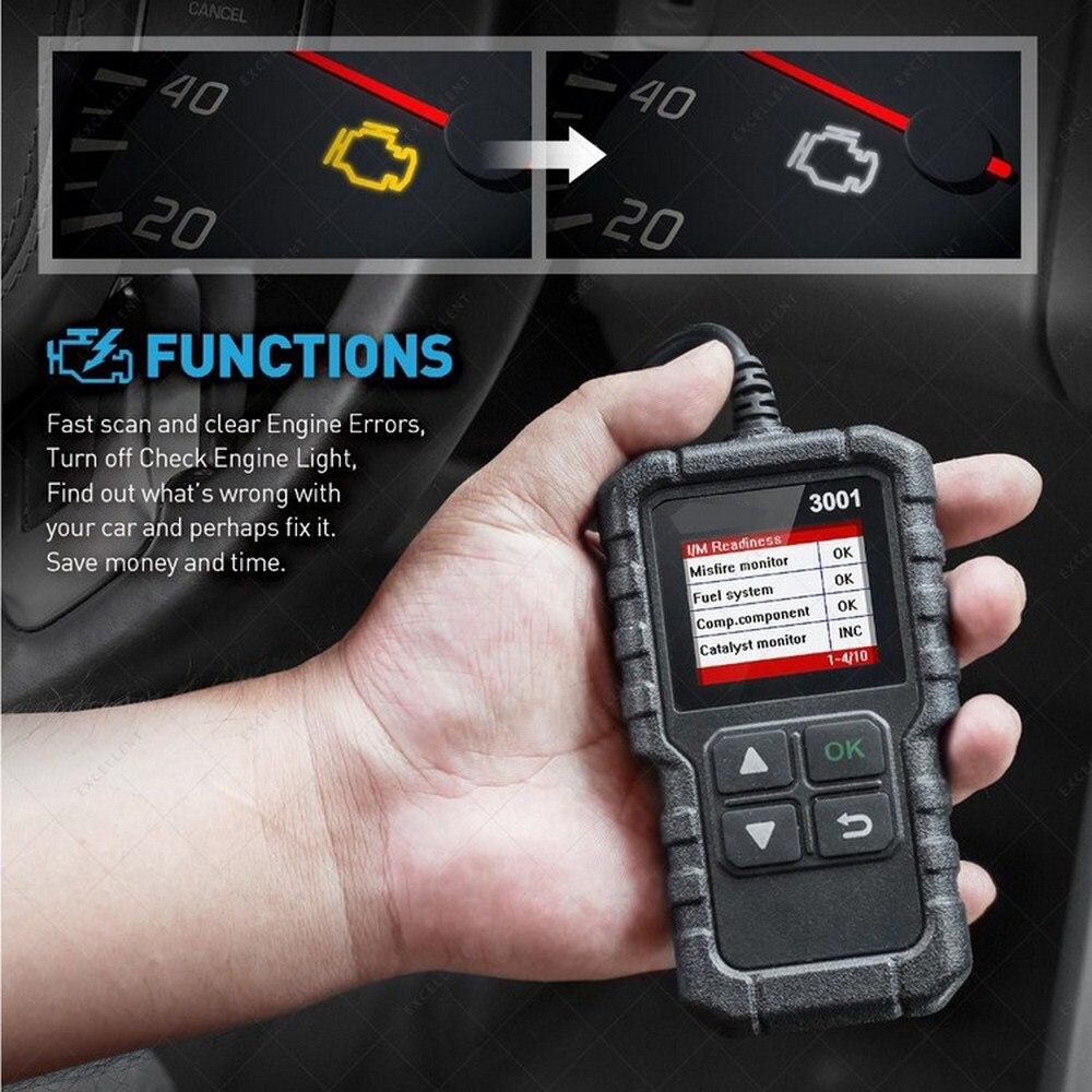 LAUNCH X431 Creader 3001 считыватель кода сканер многоязычный CR3001 автомобильный диагностический инструмент 1,77 дюйма LAUNCH X431 CR3001 OBD2