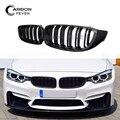 2-Slat Глянцевая почечная решетка для F32 F33 F36 F82 ABS глянцевый черный для BMW 4 серии F83 передняя решетка