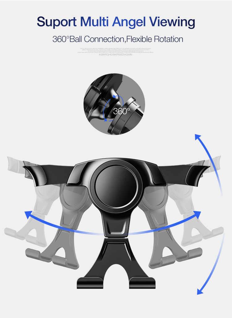 Новый универсальный гравитационный Автомобильный держатель для мобильного телефона, держатель на вентиляционное отверстие автомобиля, подставка для iPhone 7, samsung, автомобильный держатель