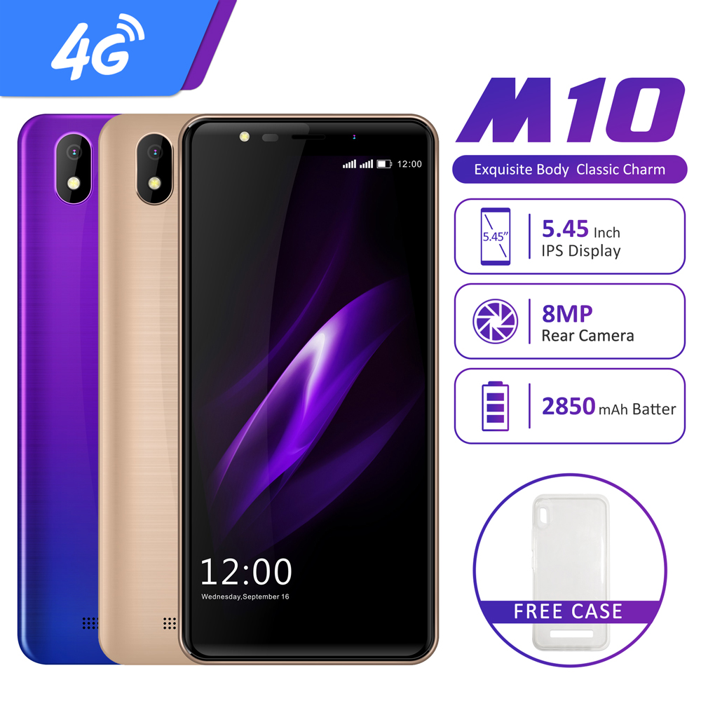 "LEAGOO M10 Android GO 4G Smartphone 5.45"" 18:9 IPS Display 16GB 2850mAh 8MP Camera  MobilePhone"