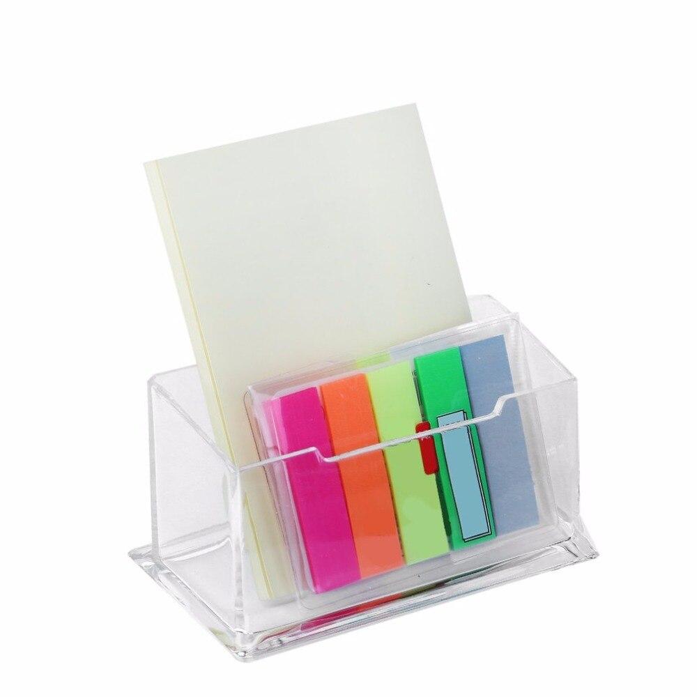 2017 nueva llegada claro PMMA titular de la tarjeta de visita soporte de exhibición escritorio Mostrador de escritorio titular de la tarjeta de negocios caja de estante de escritorio