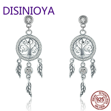 DISINIYA  Fashion 925 Silver Law Tree of Life Captures Unfinished Dreams for Female Wine Jewelry SCE457