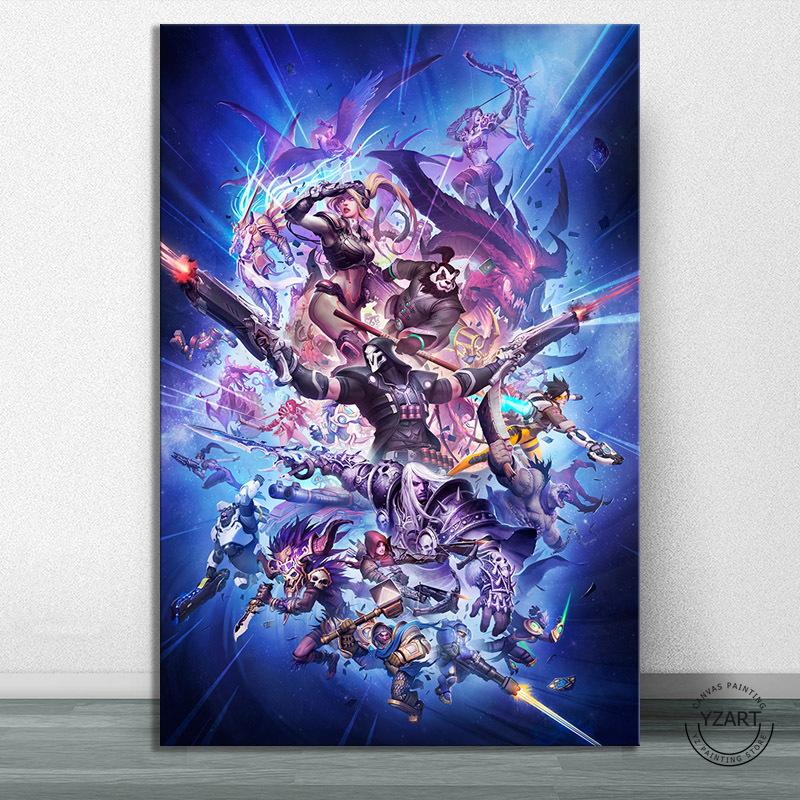 World of Warcraft DOTA Overwatch Diablo Video Games Poster Artwork Canvas Paintings HD Wall Picture for Living Room Decor image