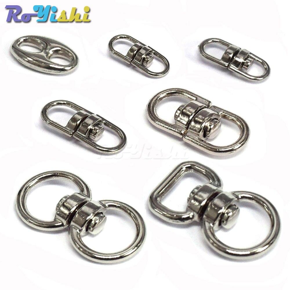 Silver 19mm O-Ring Metal Buckle Hook Bag Straps Clasp Glove Snap Hook Key Hanger