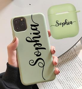 Image 3 - Personalized Name Phone Case for iPhone 11 12 Pro Max Xs XR  X se 6 7 8 Plus 2020 Case match with airpods 2 &1 case  Keychain