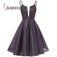 Vkbridal V-Neck Graduation Dresses 2020 New Pretty Glitter Homecoming D