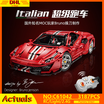 IN STOCK MOC Technic Master Series The Italian Super-Car 488 Racing Car Model Building Blocks Bricks Toys Kids Christmas Gifts understanding change in the workplace super series fifth edition super series super series