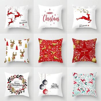 Christmas Cushion Cover Decorative Sofa Pillow Cover Case Seat Car Home Decor Throw Pillowcase Christmas Decoration For Home image