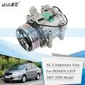 ZUK автомобильный Conditoner воздушный компрессор переменного тока в сборе для HONDA CITY 1.3L 1.5L 2007 2008 GD6 GD8 38810-REJ-H01