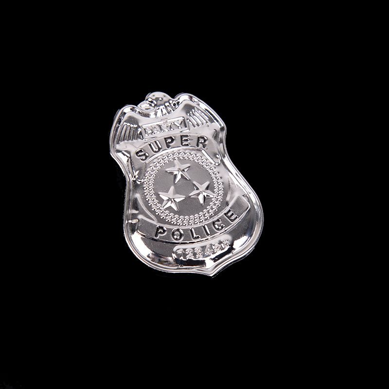 Kids Pretend Play Toys Children Occupation Role Play America <font><b>Police</b></font> Special Badge with Chain Toys for Boys Girls image
