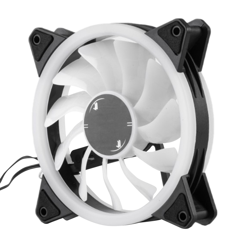 RGB Chassis Fan 120mm Cooling Cooler Fan with Controller for Computer Discoloration Colorful Cooling Chassis Fan 5 Pcs