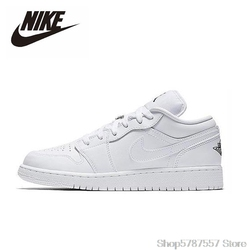 Nike Air Jordan 1 Low White GS Basketball Shoes Men Women Outdoor Sneakers Sport Aj1 Shoes 553558-109