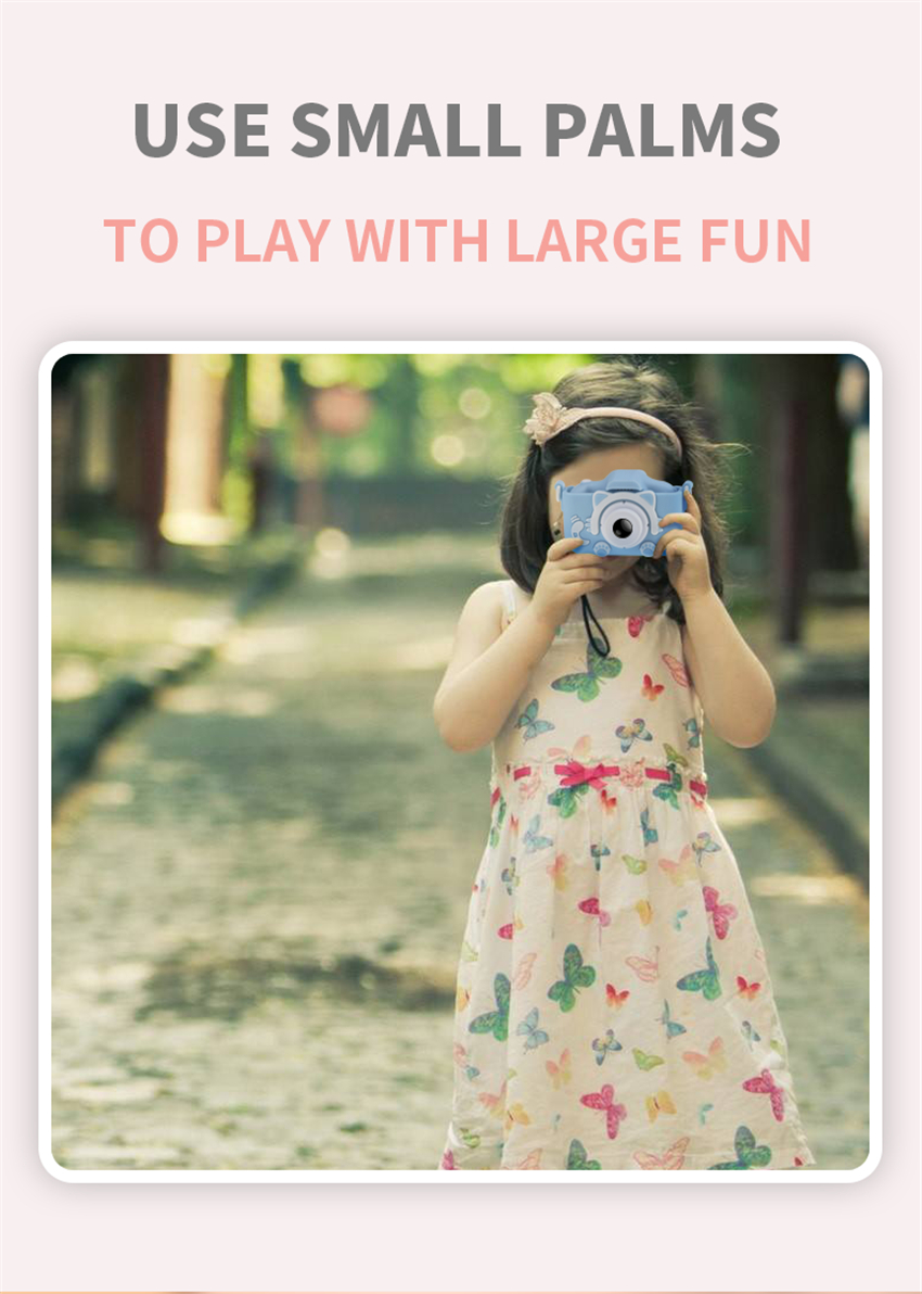 Hf4745558422e449294e95e7809b8d645G x8 2.0 inch Screen Kids Camera Mini Digital 12MP Photo Children Camera with 600 mAh Polymer Lithium Battery Toys Gift