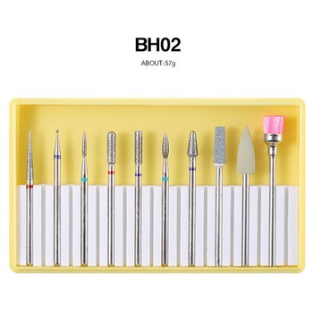 Professional 10Pieces Nails Tools Nail Drill Bit Grinding Pedicure Machine Cleaning Spare Polishing Head Set Manicure Tools L508 tanie i dobre opinie STAINLESS STEEL All Skin Types Nail Drill Bit Set ceramic nail drill bit ceramic nail drill bit set nail drill bit cuticle