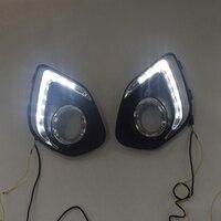 LED DRL Daytime Running Light Fog Lamp 12V Car Running Lights for Mitsubishi ASX 2013 2015