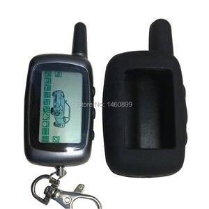 Porte-clés de télécommande LCD 2 voies A9   Porte-clés + coque en silicone pour alarme de voiture à deux voies, clé Starline A9 A8 kgo moyenne FX5 FX 5