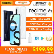 Realme 6S Global Versie 6Gb 128Gb Helio G90T 30W Flash Charger 48MP Quad Camera 90Hz display Meertalige Play Winkel