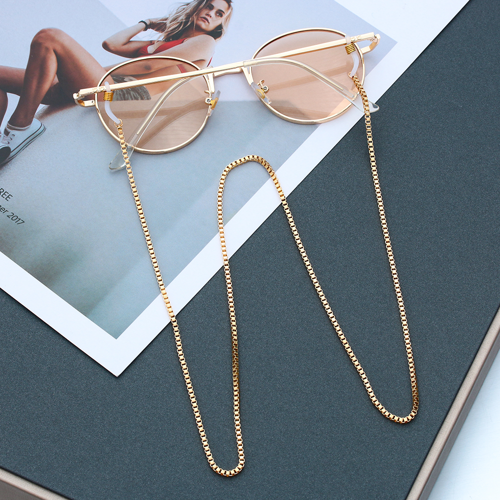 Eyeglass Chains Sunglasses-Holder Eyewear-Accessories Necklace Lanyard Gold-Plated Metal