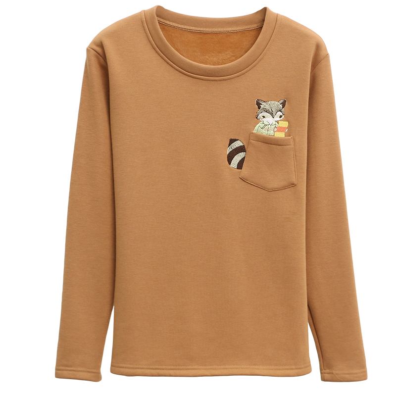 Oversized 5XL Cartoon Embroidery Women's Hoodies 2019 Winter Plus Velvet Long Sleeve Sweatshirt Loose Hypertrophy Female Tops