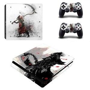 Image 1 - Bloodborne PS4 тонкая кожа Стикеры виниловая наклейка для Dualshock Playstation 4 консоли и контроллер PS4 тонкие скины Стикеры s винил