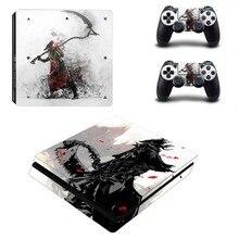 Bloodborne PS4 Slimสติกเกอร์ผิวรูปลอกไวนิลสำหรับDualshock Playstation 4คอนโซลและตัวควบคุมPS4 Slimสติกเกอร์ไวนิล