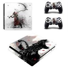 Bloodborne ps4 magro adesivo de pele decalque vinil para dualshock playstation 4 console & controlador ps4 magro skins adesivos vinil