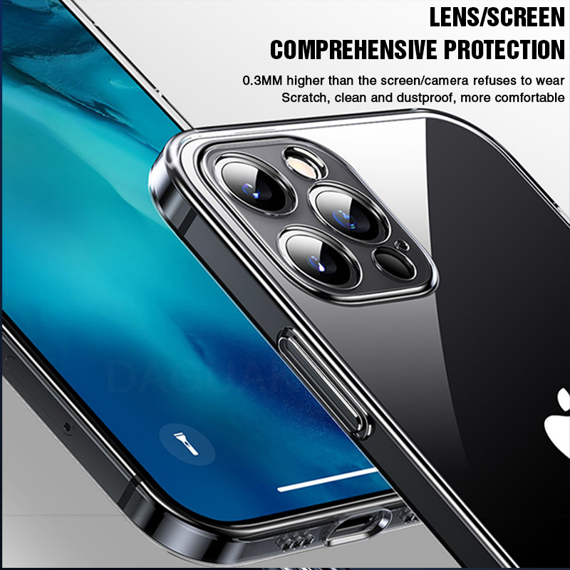 Camera Lens Protection Clear Phone Case For iPhone 12 Pro Max Silicone Soft Cover For iPhone 12 Mini Shockproof Back Cover Gift Cellphones & Telecommunications iPhone Cases/Covers Mobile Phone Accessories Phone Covers d92a8333dd3ccb895cc65f: For iPhone 12 For iPhone 12 Mini For iPhone 12 Pro For iPhone 12Pro Max