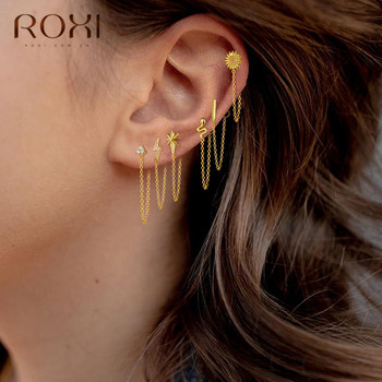 ROXI 925 Sterling Silver Statement Earrings Geometric Bar Daisy Star Snake Earrings For Women Hanging Dangle.jpg 350x350 - ROXI 925 Sterling Silver Statement Earrings Geometric Bar Daisy Star Snake Earrings For Women Hanging Dangle Earring Drop Earing