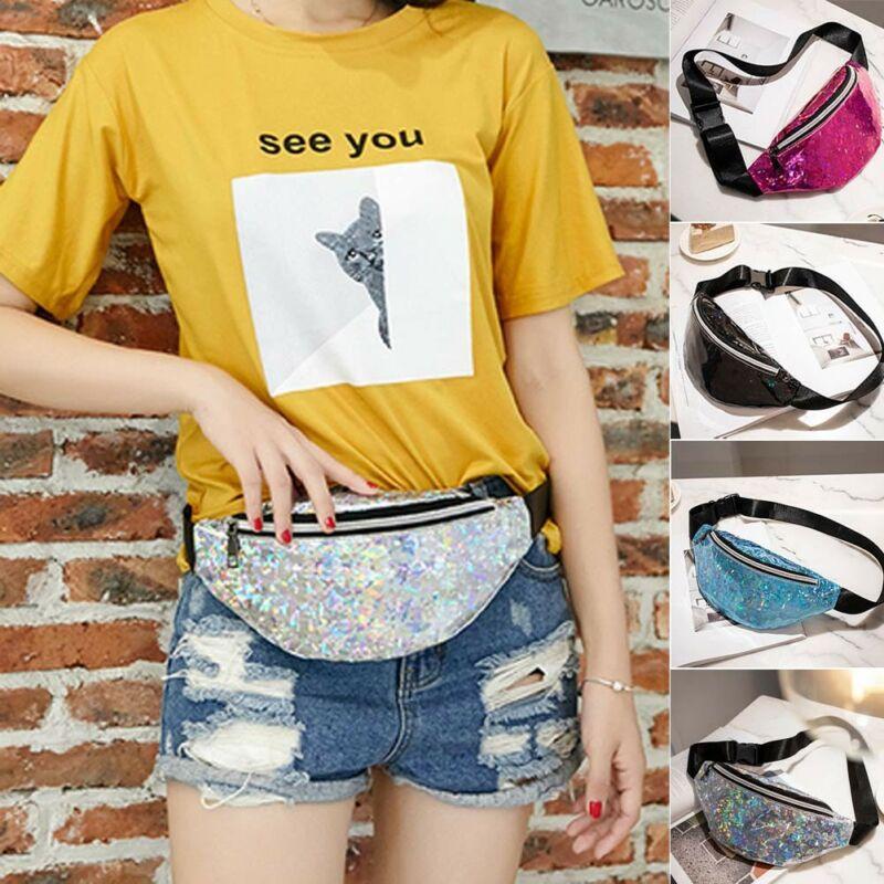 2020 Fashion Girls Bags Sequin Glitter Waist Fanny Pack Belt Bum Bag Pouch Hip Purse Messenger Handbag Outdoor Sports Waist Pack