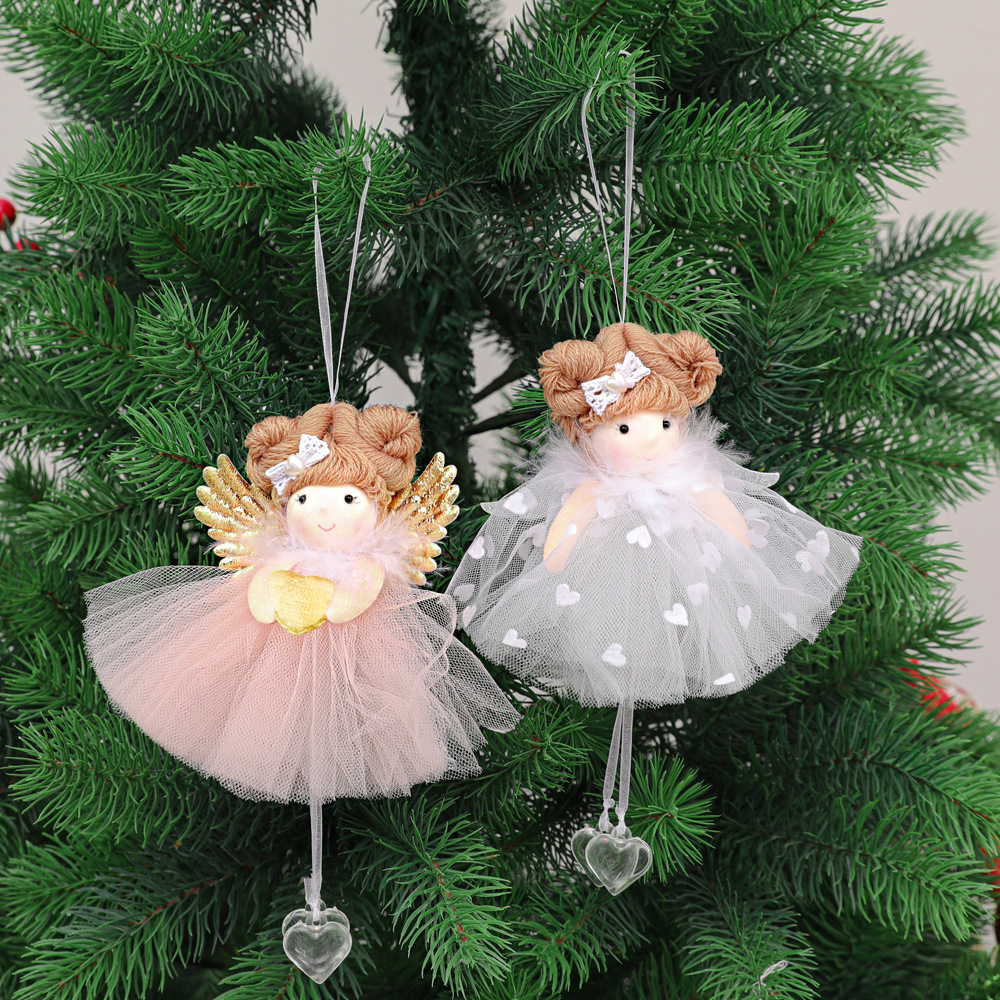 Christmas Decorations for Home Lovely Heart Girl Doll Hanging Pendant Christmas Tree Home Decor Ornaments Xmas New Year Gifts