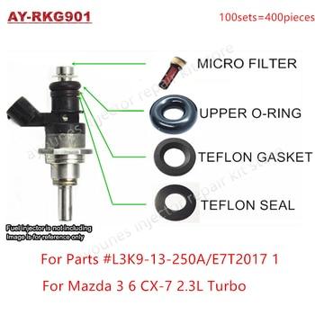 Бесплатная доставка 6 комплектов для Mazda 3 6 CX-7 2,3 турбо GDI топливный инжектор ремонтный набор для L3K9-13-250A E7T2017 1 для AY-RKG901