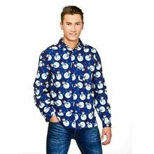 Goocheer Mens Christmas Gift Button Casual Shirts T Shirt Long Sleeve Party Dress