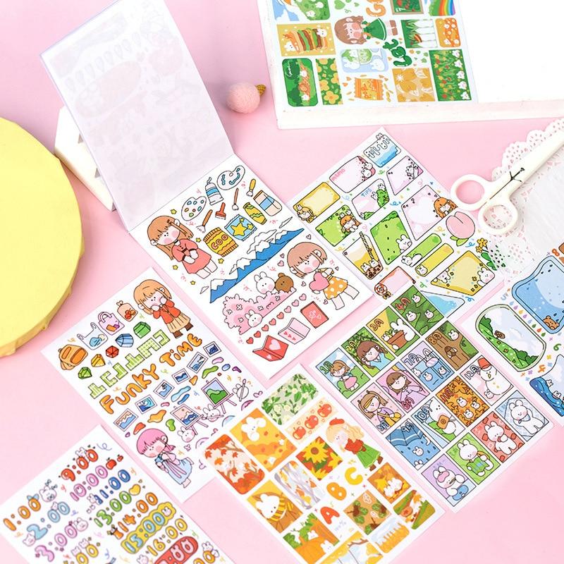 Mohamm 20 adet rahat günlük yaşam serisi çıkartmaları dekorasyon Scrapbooking kağıt yaratıcı kırtasiye okul malzemeleri